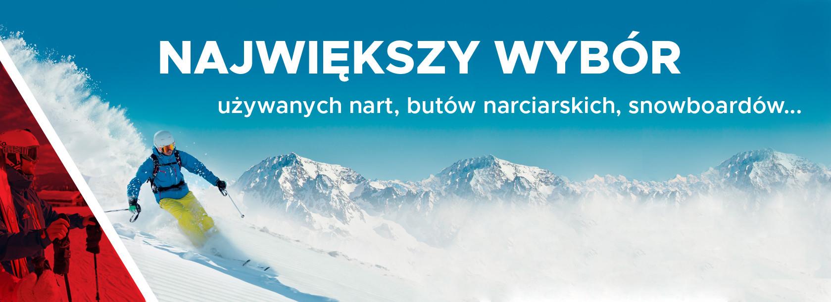uzywanych nart, butow narciarskych, snowboardov